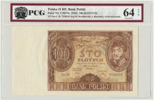 100 złotych 1934 - Ser.CB - PCG 64 EPQ