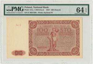 100 złotych 1947 - E - PMG 64 EPQ