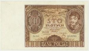 100 złotych 1932 - Ser.AA. - rzadka pierwsza seria