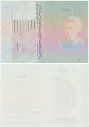 PWPW, Maria Skłodowska-Curie 2012 - karty paszportowe (2szt)
