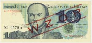 10 złotych 1982 - WZÓR A 0000000 No.0579 -