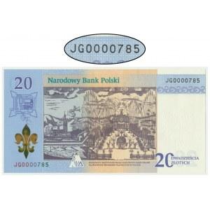 20 złotych 2017 - 300-lecie koronacji Obrazu Matki Boskiej Jasnogórskiej - 0000785 - NISKI NUMER