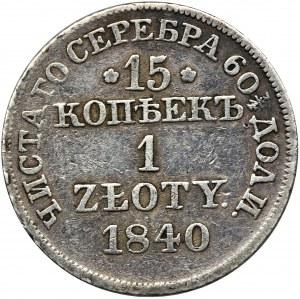 15 kopiejek = 1 złoty Warszawa 1840 MW