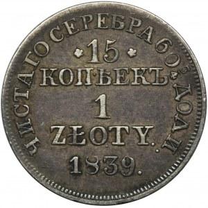 15 kopiejek = 1 złoty Warszawa 1839 MW