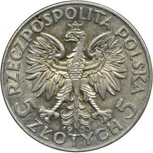 Głowa Kobiety, 5 złotych Warszawa 1933