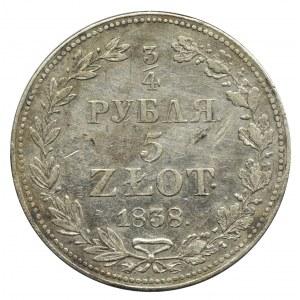 3/4 rubla = 5 złotych Warszawa 1838 MW