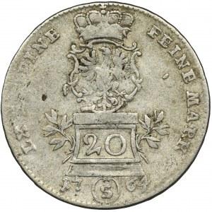 Niemcy, Brandenburgia-Ansbach, Krystian Fryderyk Karol Aleksander, 20 Krajcarów Schwabach 1764