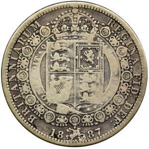 Wielka Brytania, Wiktoria, 1/2 korony 1887