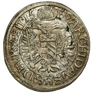 Śląsk, Leopold I, 3 Krajcary Wrocław 1669 SHS