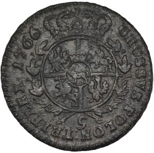 Poniatowski, Trojak Kraków 1766 - RZADSZY