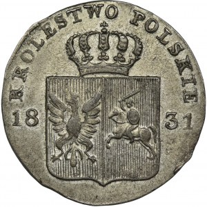 Powstanie Listopadowe, 10 groszy Warszawa 1831 KG - łapy orła zgięte