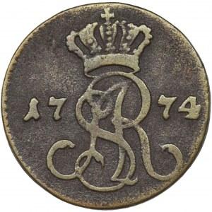 Poniatowski, Grosz Warszawa 1774 EB