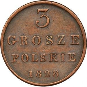Polish Kingdom, 3 polish groschen Warsaw 1828 FH