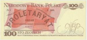 100 złotych 1986 - LP - pierwsza seria rocznika