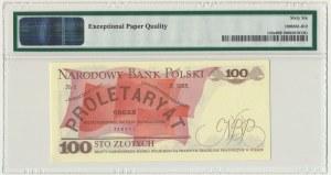 100 złotych 1986 - LP - PMG 66 EPQ - pierwsza seria rocznika