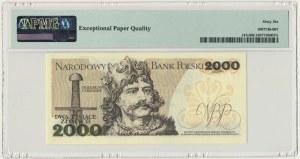 2.000 złotych 1982 - BP - PMG 66 EPQ - pierwsza seria rocznika