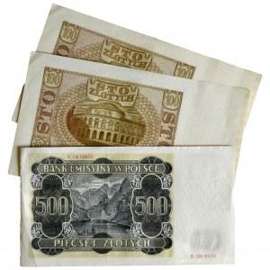 Zestaw banknotów 1940 (3 szt.)