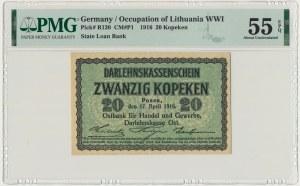Posen, 20 kopeckss 1916 - PMG 55 EPQ