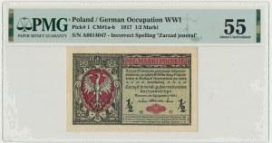 1/2 marki 1916 Jenerał - A - PMG 55