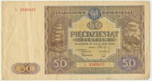 50 złotych 1946 - L -