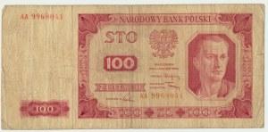 100 złotych 1948 - AA - bardzo rzadka seria