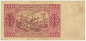 100 złotych 1948 - B - rzadka seria jednoliterowa