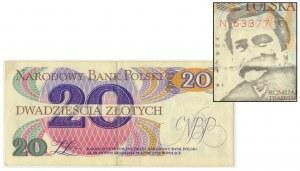 Solidarność, 20 złotych 1982 - Lech Wałęsa