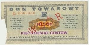 Pewex, 50 centów 1969 - WZÓR Ec 0000000 -