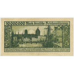 Danzig, 10 milion mark 1923 - without designation of the series -