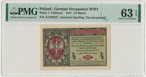 1/2 marki 1916 Jenerał - A - PMG 63 EPQ
