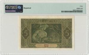 5 złotych 1926 - G - PMG 40 NET