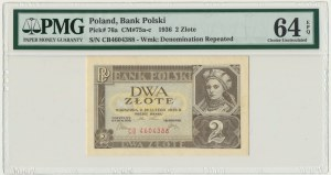2 złote 1936 - CB - PMG 64 EPQ