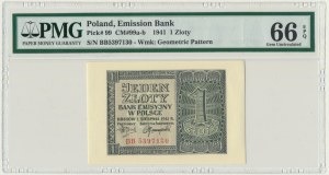 1 złoty 1941 - BB - PMG 66 EPQ