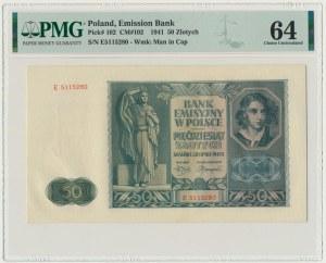 50 złotych 1941 - E - PMG 64