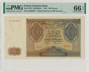 100 złotych 1941 - D - PMG 66 EPQ