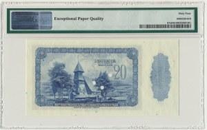 20 złotych 1939 WZÓR 00000 - PMG 64 EPQ