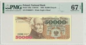 50.000 złotych 1993 - P - PMG 67 EPQ