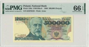 500.000 złotych 1990 - K - PMG 66 EPQ