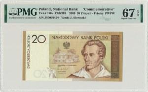20 złotych 2009 - Juliusz Słowacki - PMG 67 EPQ