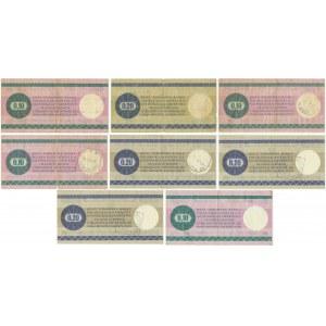 Pewex, zestaw bonów 10-20 centów 1979 (8 szt.)