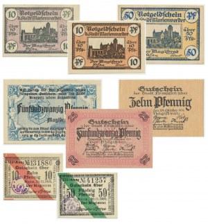 Zestaw notgeldów niemieckojęzycznych (7 szt.)