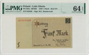 5 mark 1940 - red numerator - PMG 64 EPQ