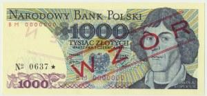 1.000 złotych 1979 - WZÓR BM 0000000 No. 0637 -