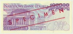 100.000 złotych 1993 - WZÓR A 0000000 No. 0781 -