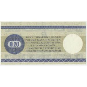 Pewex, 20 centów 1979 - HN - mały -