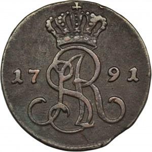 Poniatowski, Grosz Warszawa 1791 EB