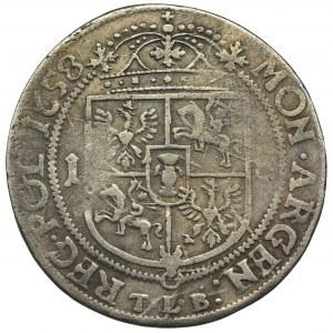 Jan II Kazimierz, Ort Kraków 1658 TLB - RZADSZY, małe popiersie