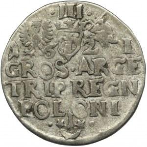 Sigismund III Vasa, 3 Groschen Krakau 1621