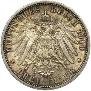 Niemcy, Królestwo Prus, Wilhelm II, 3 marki Berlin 1910 A