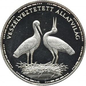 Węgry, 200 Forintów 1992 - Bociany białe
